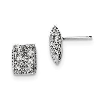 925 Sterling Silver Pave Rhodium plated and CZ Cubic Zirconia Simulated Diamond Fancy Post Earrings Jewelry Gifts for Wo