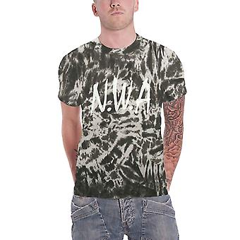 NWA T Shirt N.W.A. band logo new Official unisex black and white Tie Dye
