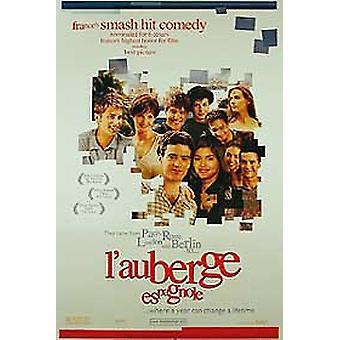 L ' Auberge espagnole (kaksipuolinen ennakko) alkuperäinen elokuva juliste
