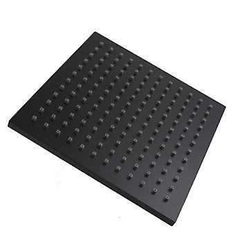 "8"" Square Nero Black Abs Rainfall Shower Head"