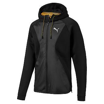 プーマコレクティブプロテクトメンズフィットネストレーニングフルジップジャケットブラック/グレー