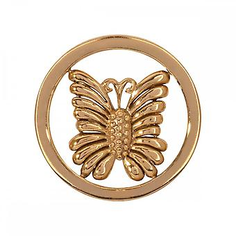 Nikki Lissoni Little Butterfly Small Gold Plated Coin C1243GS