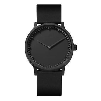 Leff Amsterdam LT75212 Black Leather T40 Black Tube Wristwatch
