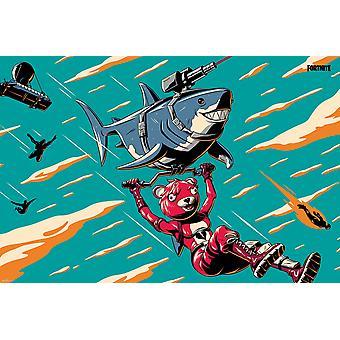 Fortnite Laser Shark Maxi Poster 61x91.5cm