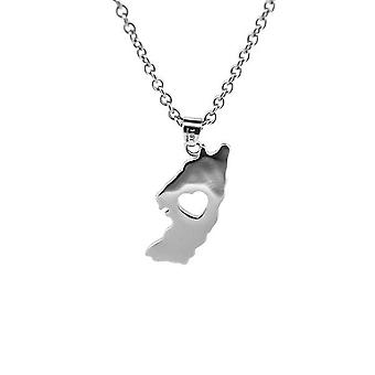 Iona Of My Heart Necklace Pendant - On A 20/22-quot; Stainless Steel Chain