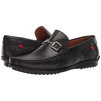 MARC JOSEPH NEW YORK Mens Grainy Leather Carneige Hill Buckle Loafer, Black, ...