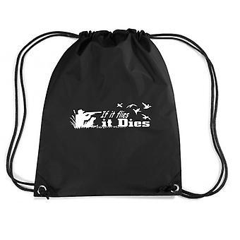 Black backpack gen0177 if it flies it dies