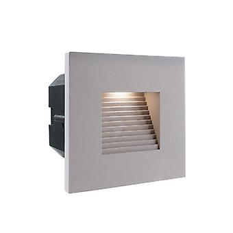 Cover silver-grey square for Light Base II COB Outdoor