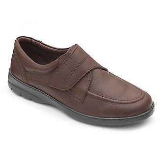Padders Solar Mens Leather Wide (g/h) Shoes Dark Tan