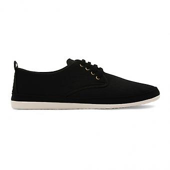 Flossy Yago mens canvas Lace up Plimsolls zwart