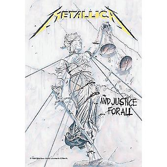 Metallica And Justice For All Large Fabric Poster/ Flag 1100Mm X 750Mm