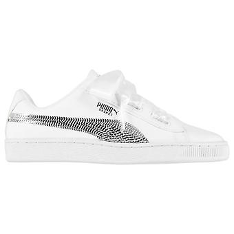 Puma Kids Childrens Heart Lace-Up Low Top Sneakers Trainers Sports Shoes