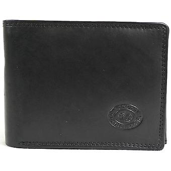 Men's Soft Leather Tri-Fold Wallet with Multiple Features