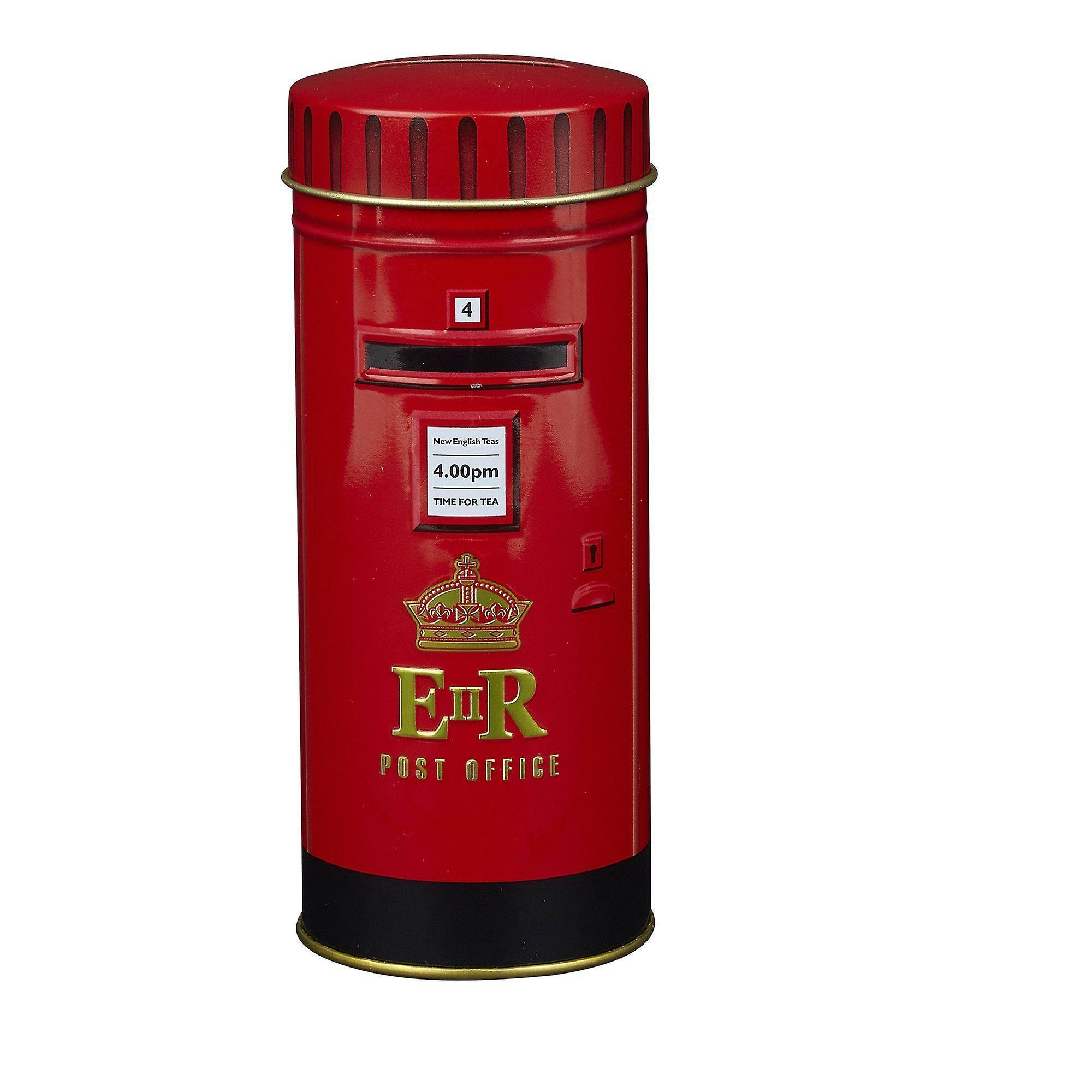 English post box afternoon tea tin 14 teabags