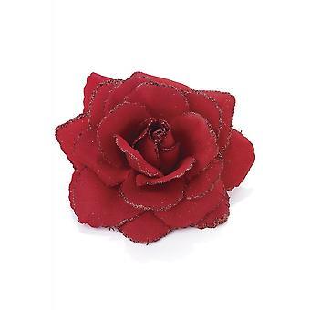 Attitude Îmbrăcăminte Red Glitter Rose Hair Clip