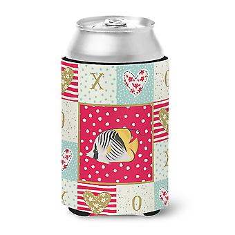 Carolines Treasures  CK5466CC Butterfly Fish Love Can or Bottle Hugger