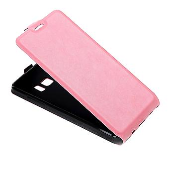 For Samsung Galaxy Note FE Case,Elegant Vertical Flip Protective Cover,Pink