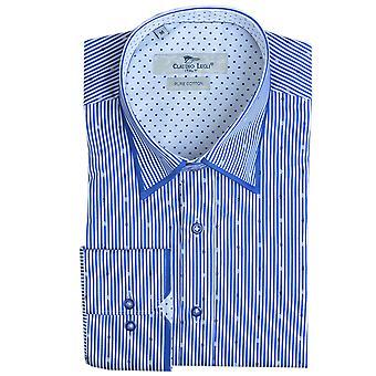 Клаудио Lugli Pin полоса Мужская рубашка