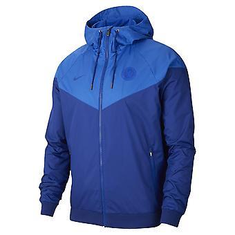 2019-2020 Chelsea Nike Authentic Windrunner Jacket (Blue)