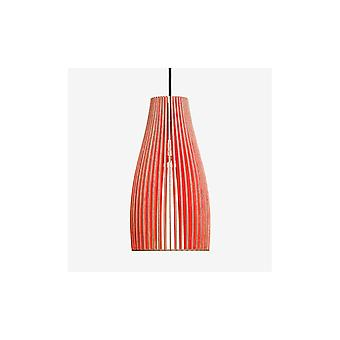 Iumi Ena L Large Cone Shaped Plywood Pendant Lamp - Red