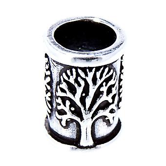 Beard bead tree 7mm - silver