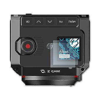Bruni 2x Screen Protector kompatibel med Z-Cam E2 Kamera Beskyttende Film