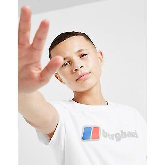 New Berghaus Boys' Logo Lyhythihainen T-paita Valkoinen