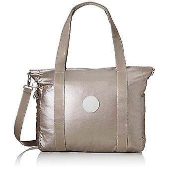 Kipling ASSENI Beach bag 49 cm 20 liters Silver (Metallic Glow)