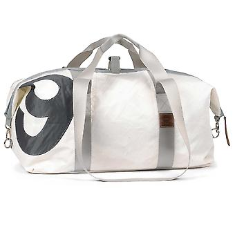 360 degree sports bag made of canvas waterproof cutter XL white with number grey