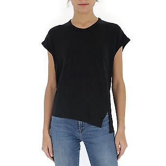 Isabel Marant ÉToile 00mts048000m004e01bk Women's Black Cotton T-shirt