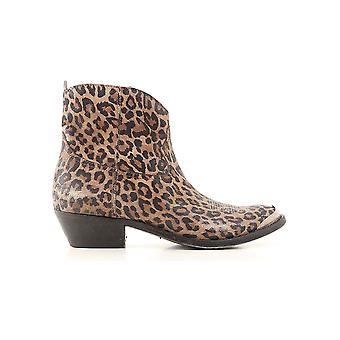 Goldene Gans G36ws274h4 Frauen's Leopard Leder Stiefeletten