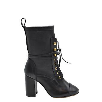 Stuart Weitzman Ezbc158021 Dames's Black Leather Ankle Boots