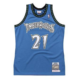 Mitchell & Ness Nba Kevin Garnett Minnesota Timberwolves Authentic AJY4GS18451MTIROYA03KGA universal summer women t-shirt