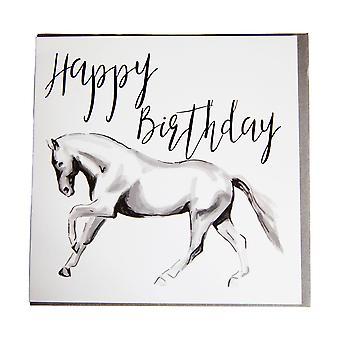 Gubblecote Horsedrawn Happy Birthday Greetings Card