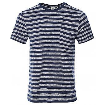 Hartford Crew Neck Gestreept Pocket T-shirt