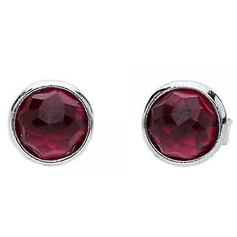 PANDORA July Droplets Stud Earrings - Synthetic Ruby
