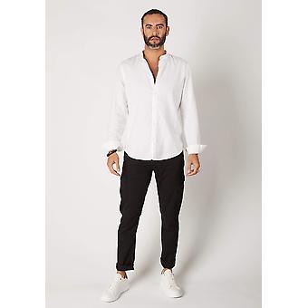 Radcliffe mens organic cotton slim fit cargo trousers - black