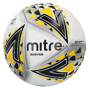 Mitre Delta Plus FIFA Pro Quality Football Soccer Ball White/Black/Yellow
