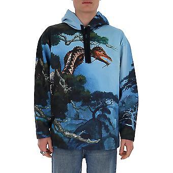 Valentino Tv0mf11u67l87m Männer's hellblau Baumwolle Sweatshirt