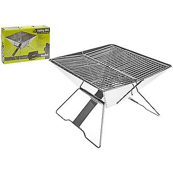 Summit Luxury Family Sized Portable Steel Folding BBQ Camping Grill