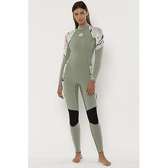 Sisstrevolution 7 seas 3/2 printed back zip wetsuit