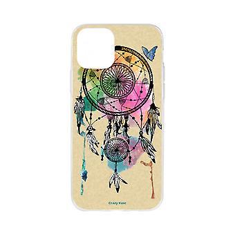 Case voor iPhone 11 flexibel patroon vangsten droom en vlinder