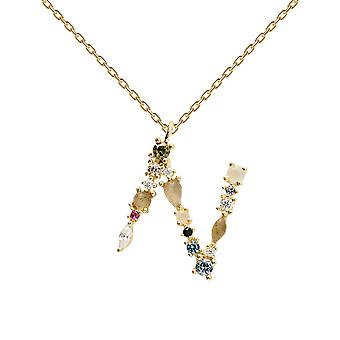 Pdpaola Women's Letter N Plated Necklace