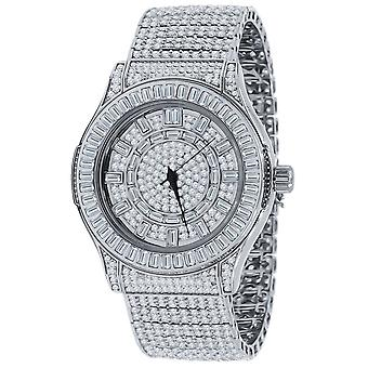 High Quality FULL ICED OUT ZIRKONIA Herren Uhr - silver