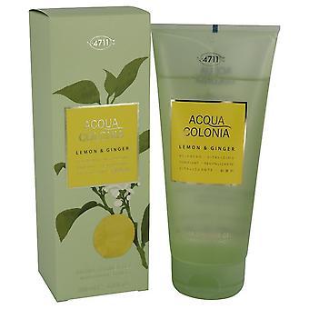 4711 Acqua Colonia Lemon & Ginger Shower Gel By Maurer & Wirtz 6.8 oz Shower Gel