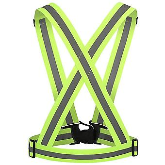 Adjustable safety vest/reflective harness with high visibility - Yellow
