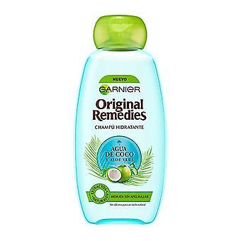 Champú Hidratante Remedios Originales Agua Coco Y Aloe Garnier (300 ml)