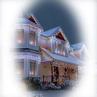 Jandei Świecąca kurtyna ICICLE 3m długości x 0,5 m wysokości WHITE FRIO 6000K 114 diody LED 220-240V do dekoracji bożonarodzeniowych, imprez, wydarzeń