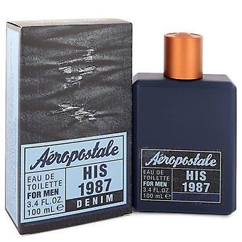 Aeropostale Su 1987 Denim Eau De Toilette Spray por Aeropostale 3.4 oz Eau De Toilette Spray