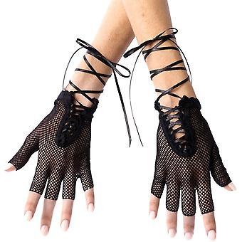 Käsineet verkkosukat sormettomat Blk